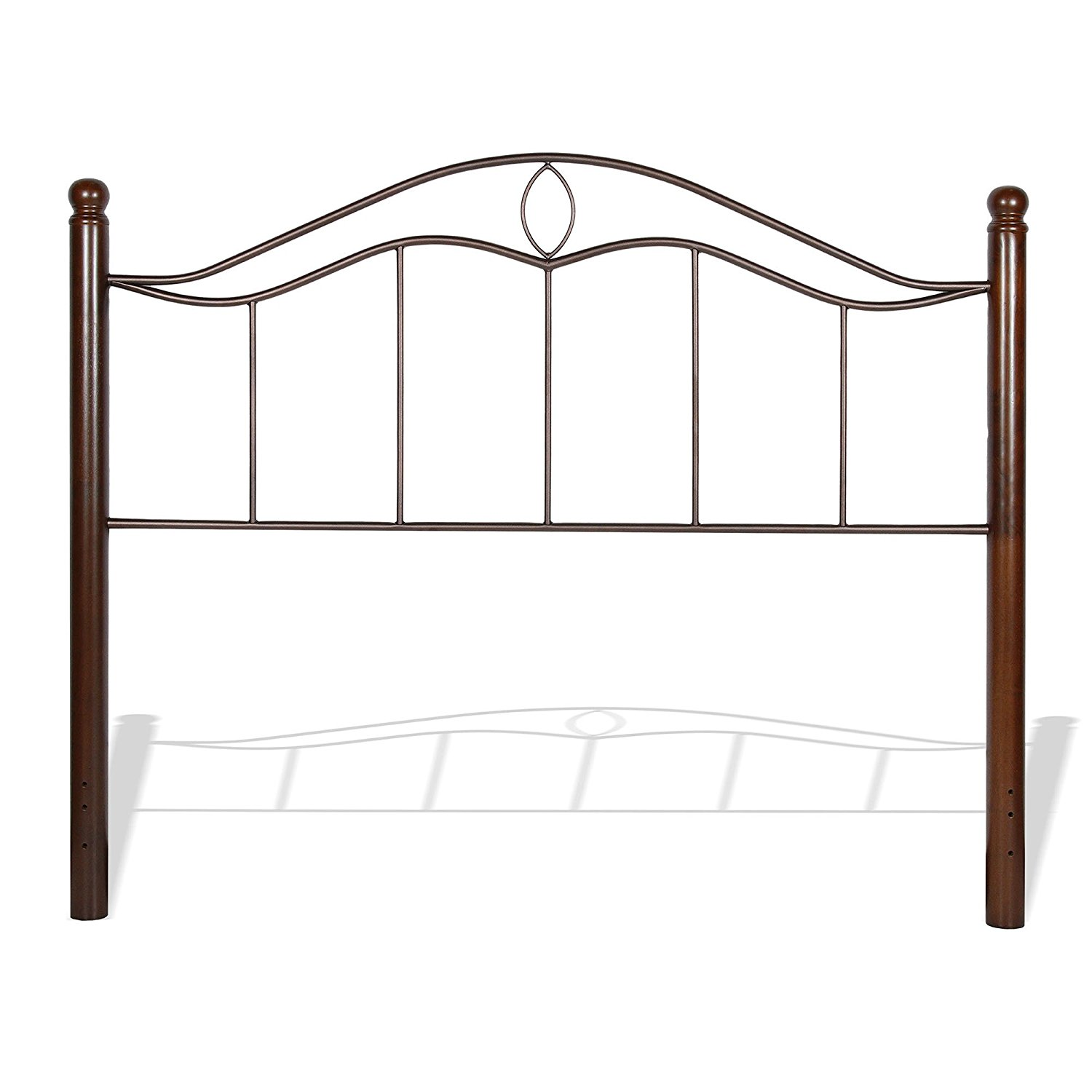 """Fashion Bed Group Pedestal Bed Base 850 with 6.25"""" Pewter Steel Frame and Detachable Bolt-On Headboard Brackets, Queen"""