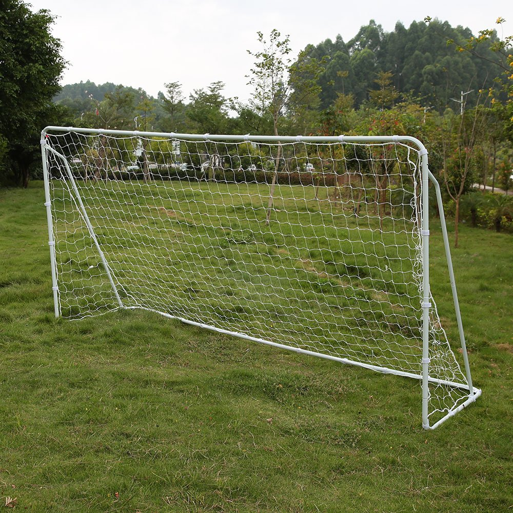 097297314 Get Quotations · Lixada 12' x 6' Soccer Goal with PE Net, Detachable Sports  Anchor Large