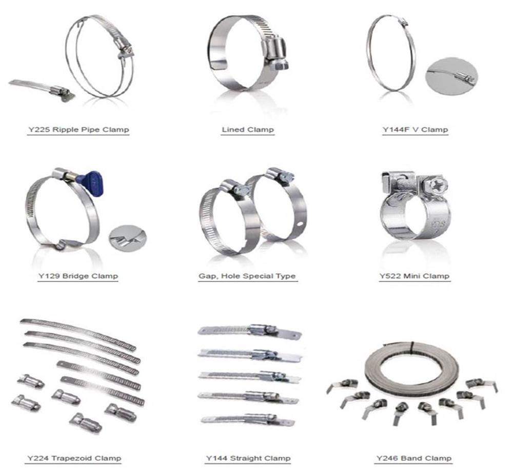 Germany types of stainless steel band repair pipe hose clamp