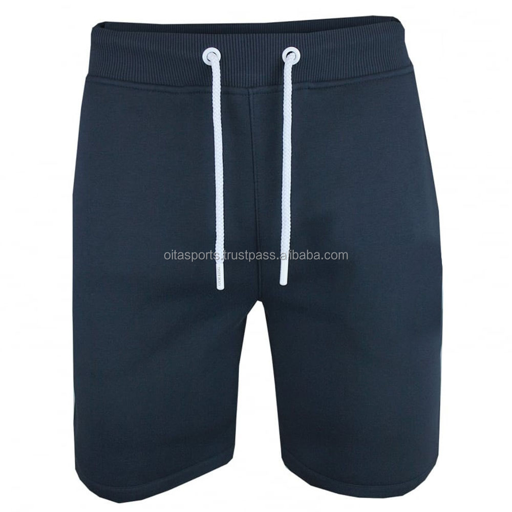 Cotton Fleece Cross Fit Gym Shorts with Elasticated waist and drawstring