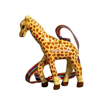 Giraffe paper mache hand made animal wholesale Christmas decorations craft ornaments India