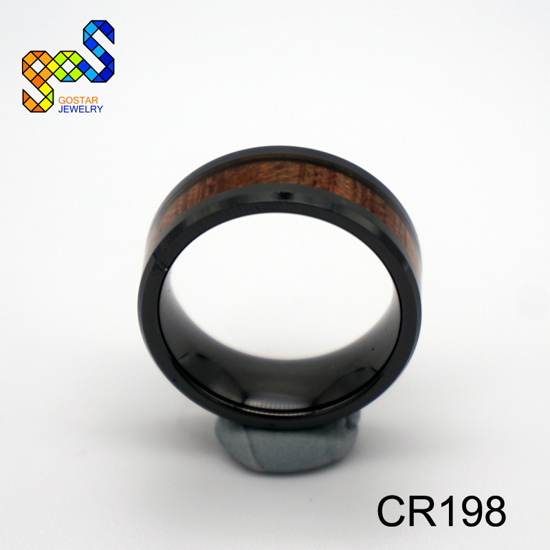 Hawaiian KOA exquisite ring wood black ceramic ring for men and woman