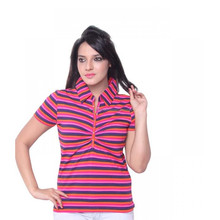 Casual slim fit manufacturer button women polo t shirt