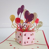 3D greeting card. Birthday pop-up card