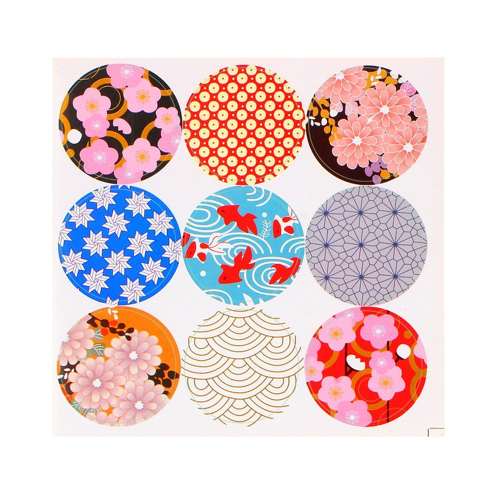 DDAYUP Pack of 90 Japan style Decorative Adhesive Label 1.53'' Personalized Stickers Packaging Seals Crafts Handmade Baked Envelope Label Decorative Sticker