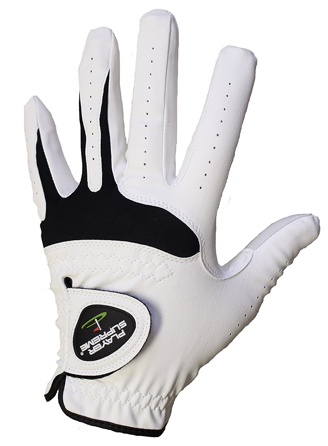 3-Pack Men's All Weather Synthetic and Cabretta Leather Golf Gloves For Right Handed Golfers (Worn on the Left Hand) Available in Various Sizes