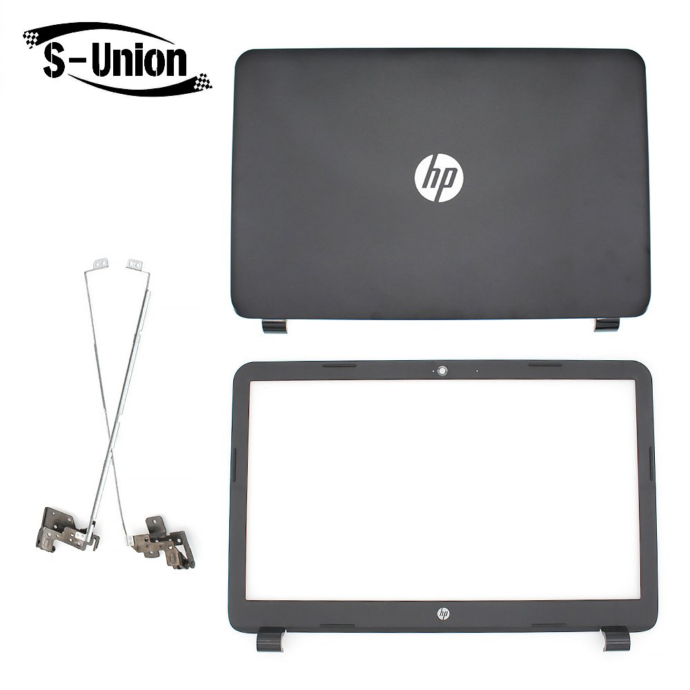 "S-Union New Replacement LCD back cover & Front Bezel & hinges for HP 250 255 G3 15-G 15-H 15Z-G 15G 15R 15-G040CA 15.6"" Series Laptop"