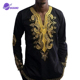 2019 Latest Design african clothing long Sleeve Casual Crew Neck african men clothing African Clothing Men