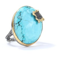 925 Sterling Silver turquoise Handmade Ring Wholesale