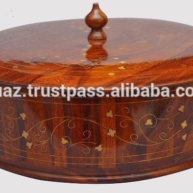 Wooden Carving Chapati Boxround Wood Boxwooden Polish Storage Box Fancy Handmade Carved Wooden Case Buy Hand Carved Wood Boxcarved Wood Cock