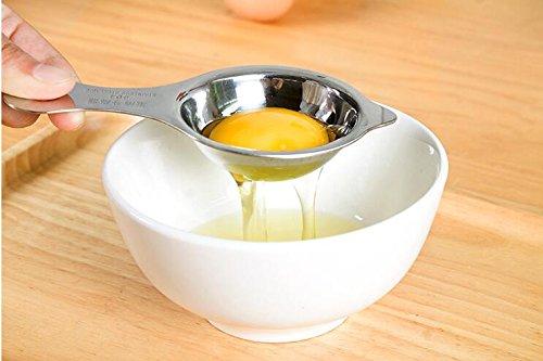 Easyinsmile Egg Yolk Separator, Egg White Separator,Food Grade Kitchen Gadget -Egg Yolk Separator Filter,Egg Extractor-304 Stainless Steel,Silver