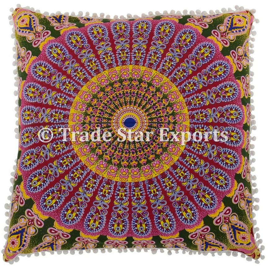 "Mandala tapestry pillow covers decorative pillow case 26X26"" cushion cover"