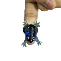 Micro mini small animal miniature glass frog figurines blown working