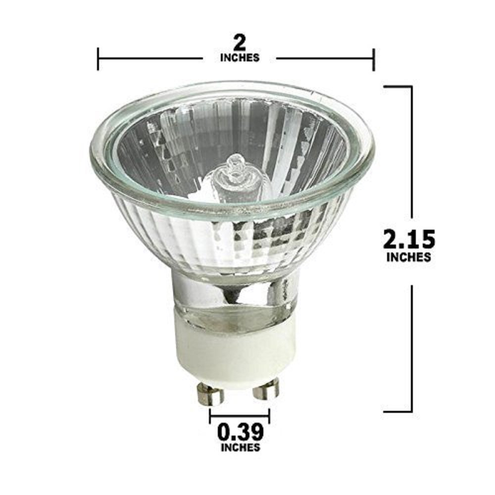 STERL LIGHTING SL-0284 - PACK OF 6-50 WATT, GU10 BASE, 120 VOLT, MR16 WITH UV GLASS COVER, HALOGEN FLOOD LIGHT BULB, Q50MR16/FL/GU10