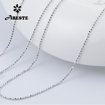ABESTE Wholesale Fashion Jewelry 925 Sterling Silver High Quality Ball Chain Necklace Classic Style