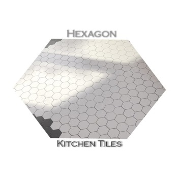 Hexagon Digital Glossy Finish Wall Kitchen Tiles 3-6% Water Absorption