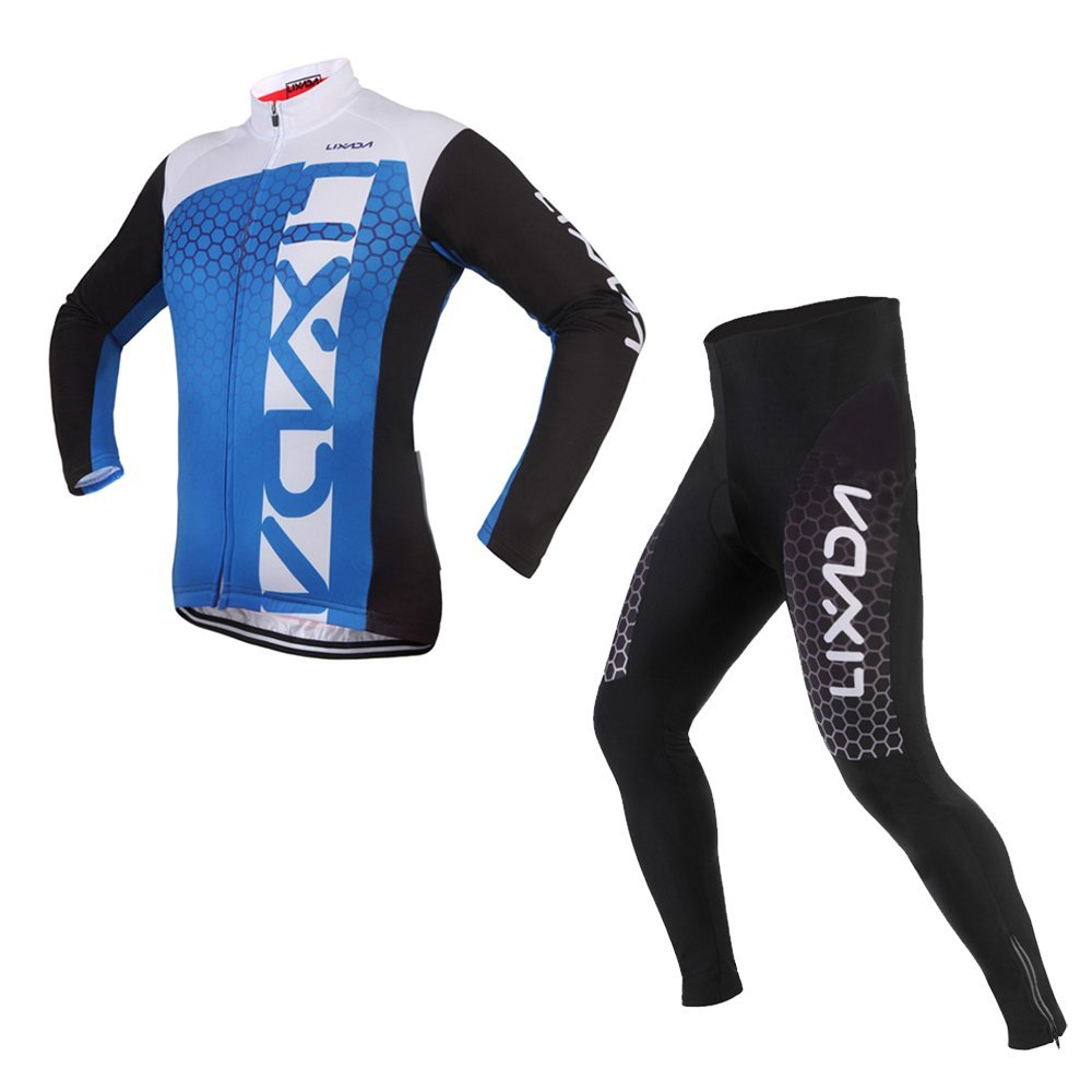Get Quotations · Lixada Unisex Breathable Comfortable Long Sleeve Padded  Pants Trousers Winter Cycling Clothing Set Road Bike Riding 980c27448