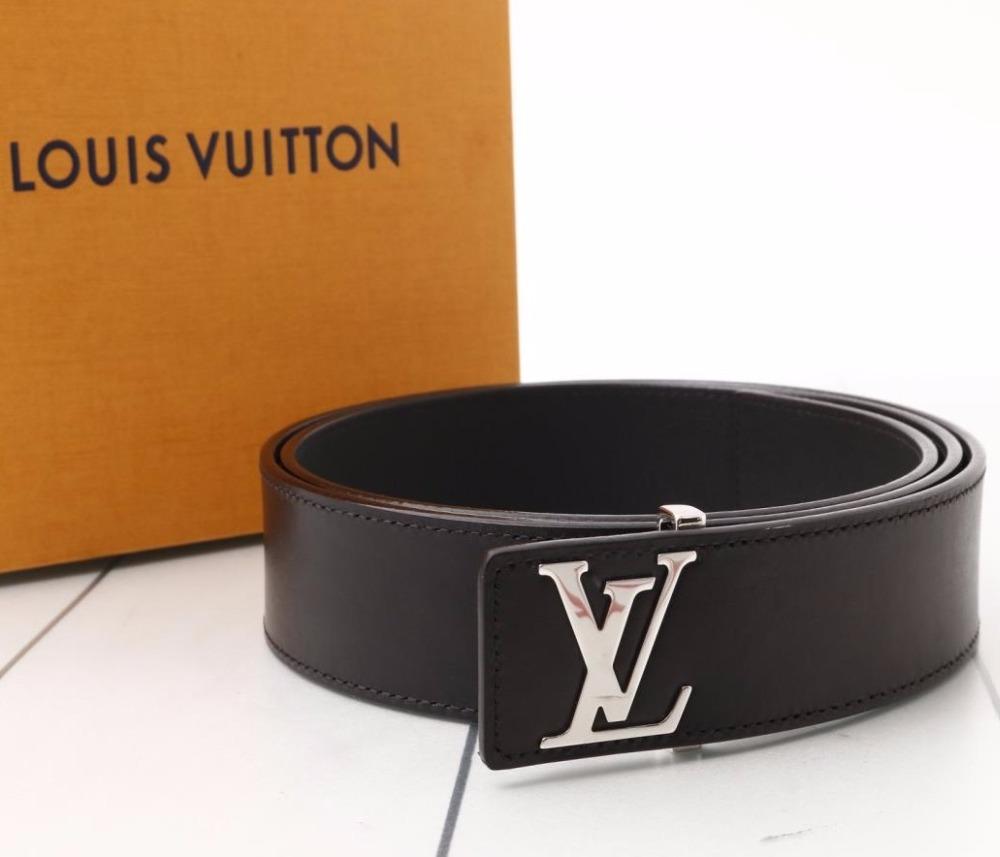 12ca27387129 Used original Brand LOUIS VUITTON M9076U Saint Germain Black Leather Belt  for bulk sale.