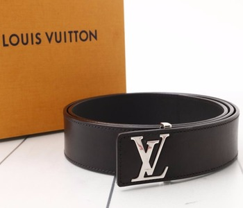 12ca27387129 Used original Brand LOUIS VUITTON M9076U Saint Germain Black Leather Belt  for bulk sale.
