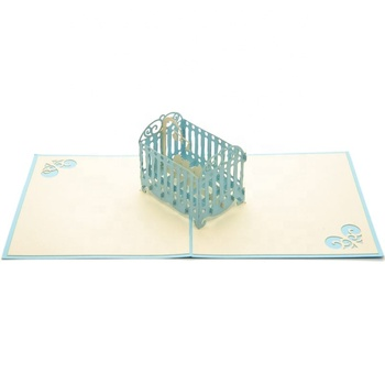 New Baby 3d Handmade Greeting Card Hot Sales New Born Pop Up Cards
