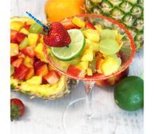 fruit cocktail in plastic cup