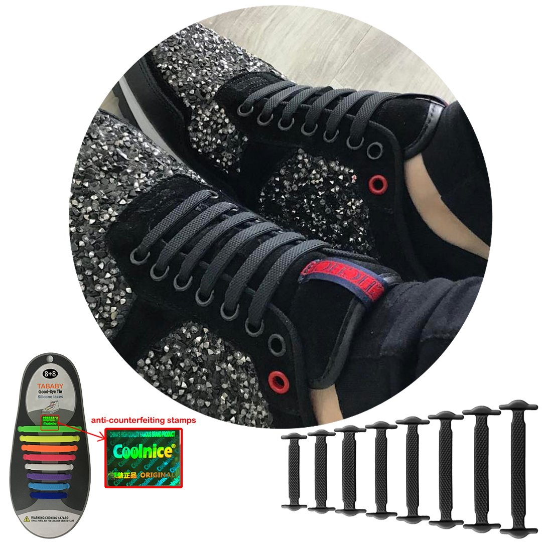 25a900e31a40 Get Quotations · No Tie Shoelaces for Men and Women - Best in Sports Fan –  Waterproof Silicon Flat
