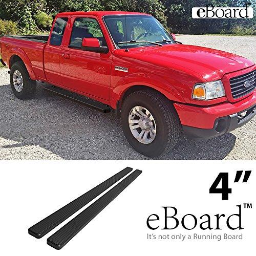 eBoard Running Boards Matte Black 4 Fits 99-13 Chevy Silverado//GMC Sierra Ext.//Double Cab
