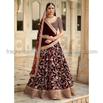 2018 Latest Wedding Red Lehenga/ Indian Wedding Dress - Buy Wedding ...