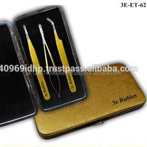Gold Metallic Lashes Tweezers Kit / New Model Volume Lash Get Eyelash Extension Tweezers