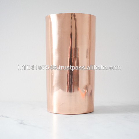Copper & Brass Vases , Rose copper, gold , silver, black colors available