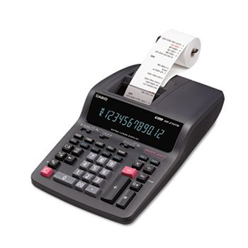 DR-270TM Two-Color Desktop Calculator, 12-Digit Digitron, Black/Red by CASIO (Catalog Category: Office Equipment & Equipment Supplies / Calculators)