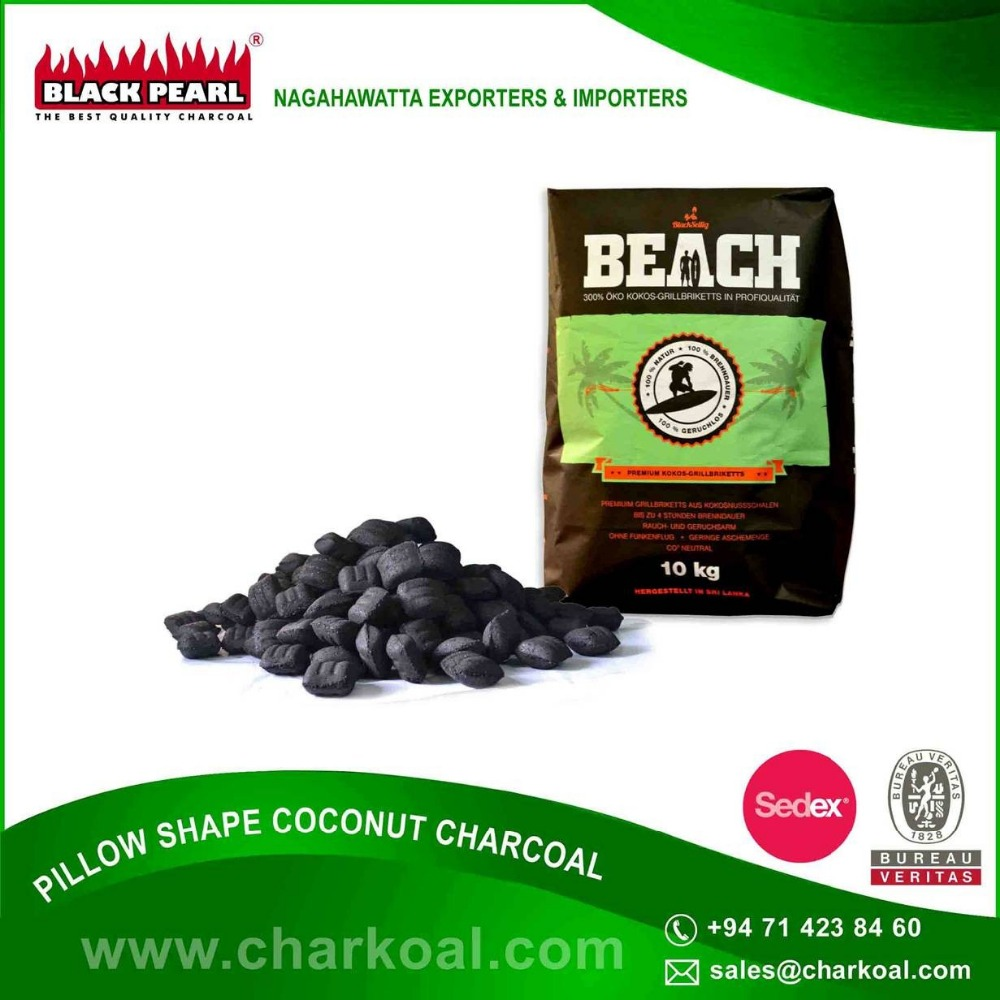 High Quality Coconut Shell Material BBQ Charcoal Price