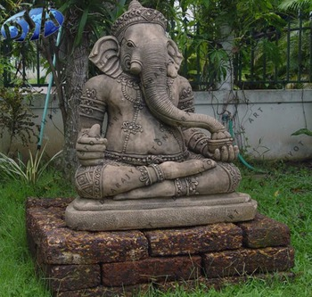 Indian God Ganesh Stone Statue For Sale