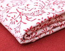 Ethnic Indian By Yard Running Natural Voile Cotton Hand Block Sanganeri Print Floral