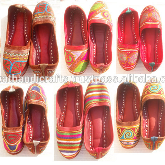 Stylish fancy Ladies bellies Jaipuri Sandals Indian Party Shoes SDL-155