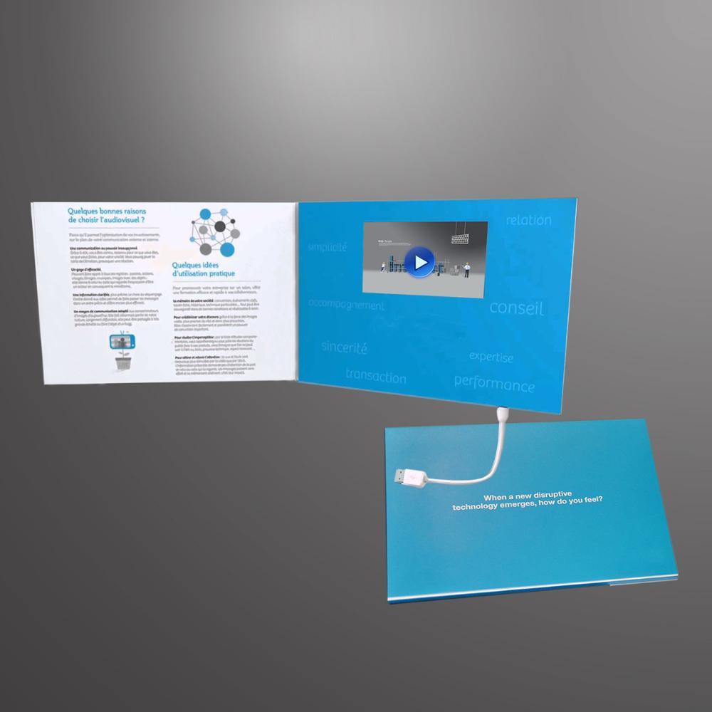 Promotionnel Marketing Cran Lcd TFT Vido Carte De Voeux Publicit Visite