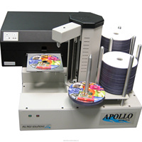 PC-Connected Network CD DVD Printing Machine Inkjet Full Color High speed