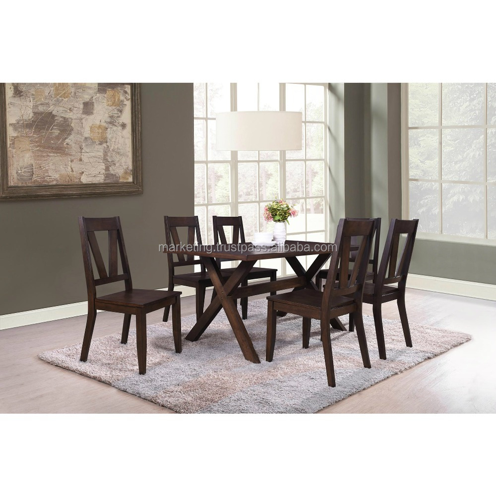 Malaysia wooden dining room furniture set or modern dining table set and wooden chair