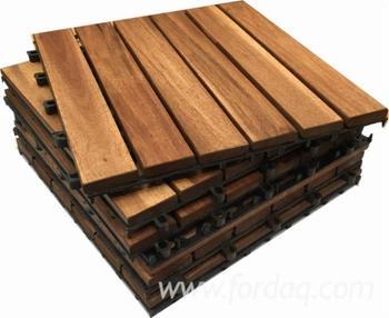 Piattaforma di legno piastrelle giardino in legno decking