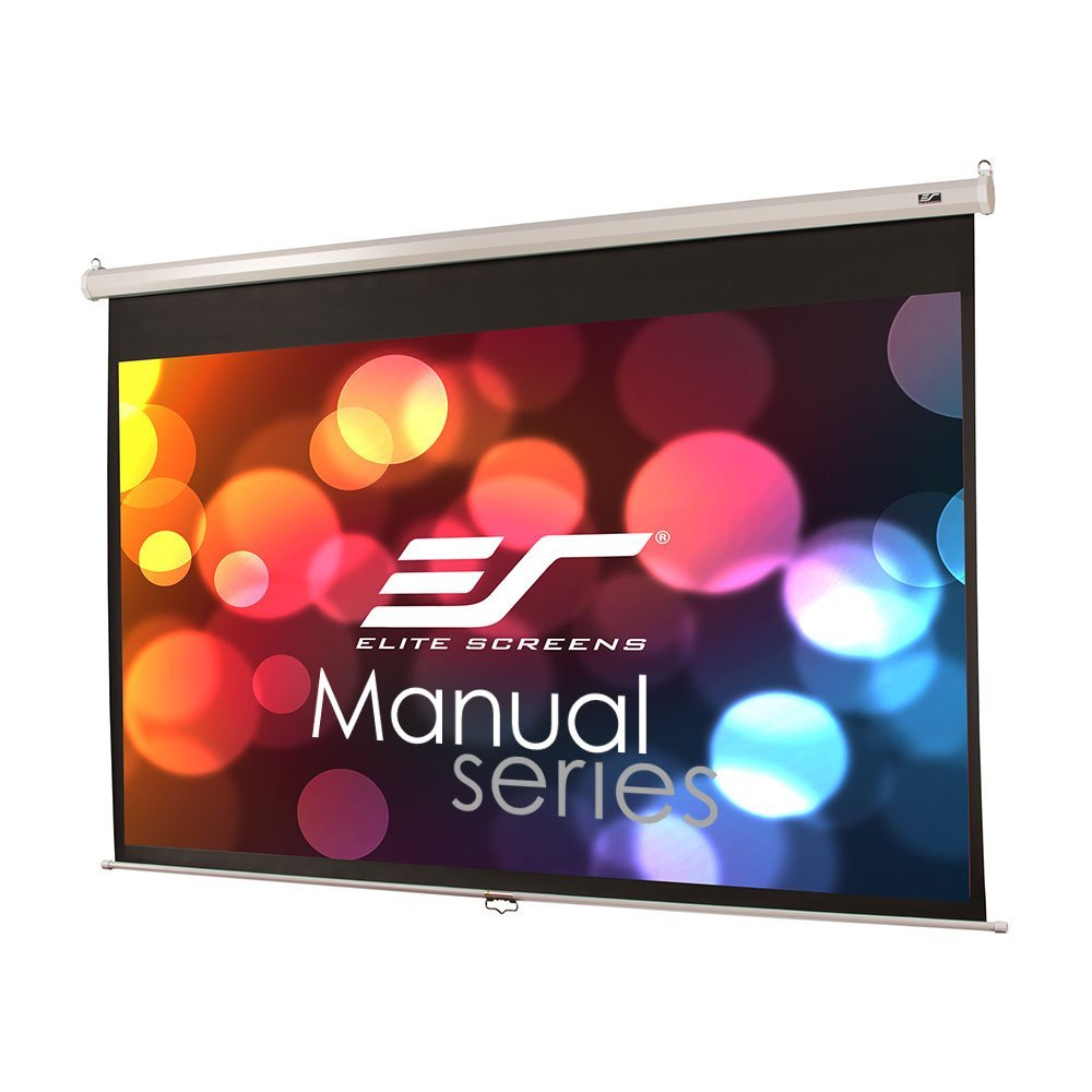 Elite Screens Manual, 120-inch 16:9, Pull Down Projection Manual Projector Screen with 24-inch Drop, M120XWH2-E24