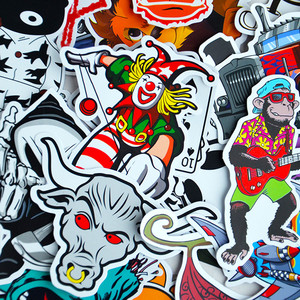 100 Car Styling JDM decal Stickers for Graffiti Car Covers Skateboard Snowboard Motorcycle Bike Laptop Sticker Bomb Accessories