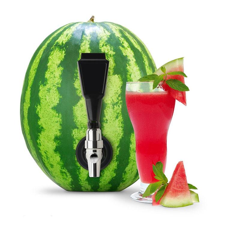 Party Outdoor Bar Summer Drinks Watermelon Beverage Dispenser Spigot Keg Deluxe Tapping Kit, Black