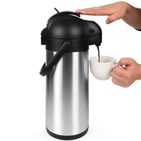 Nice one Stainless Steel Large Coffee Air Pump Thermo Pot