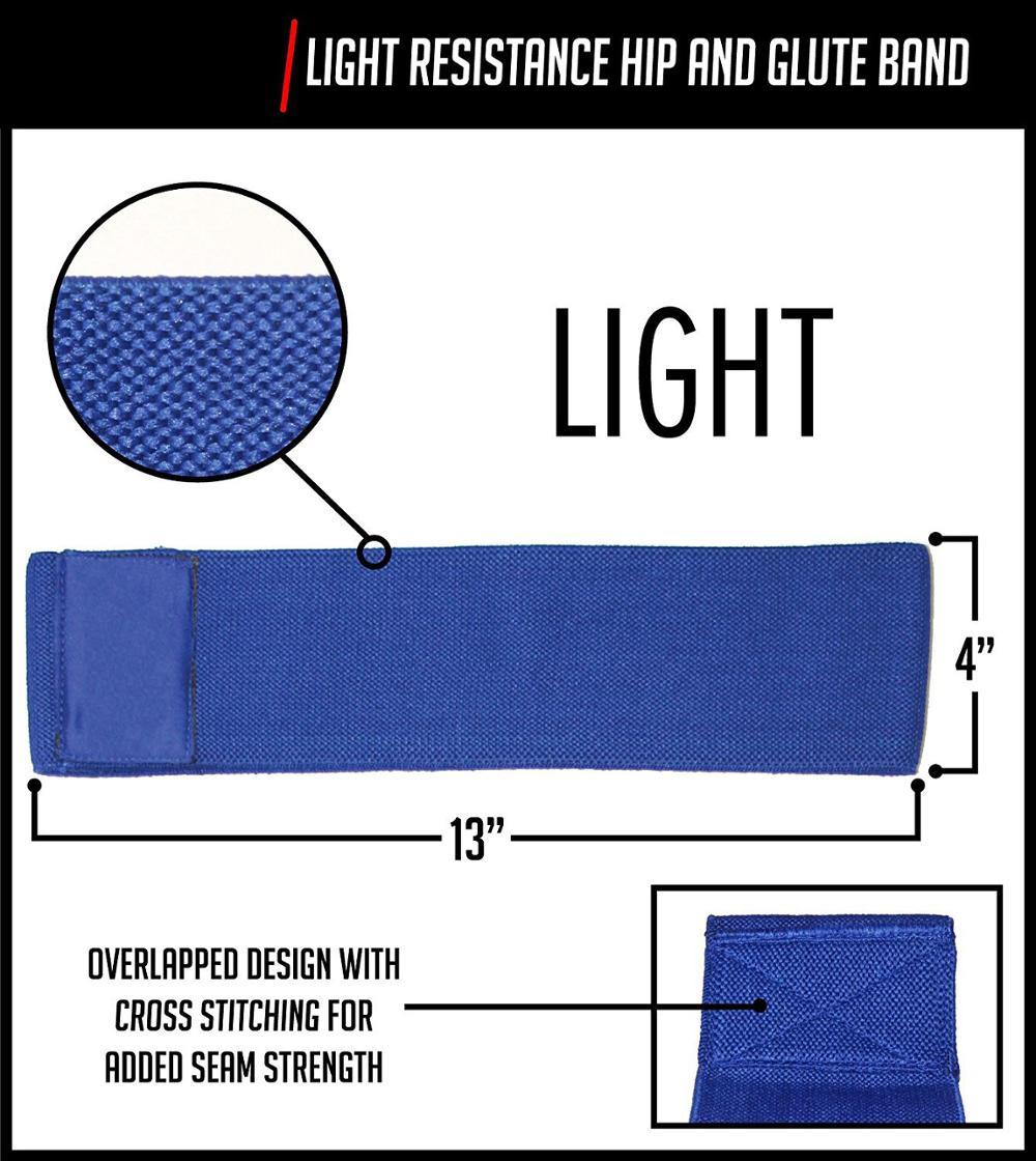 Círculo quadril Resistance Hip Band com Soft e Non Slip Design para quadris e exercícios Glutes