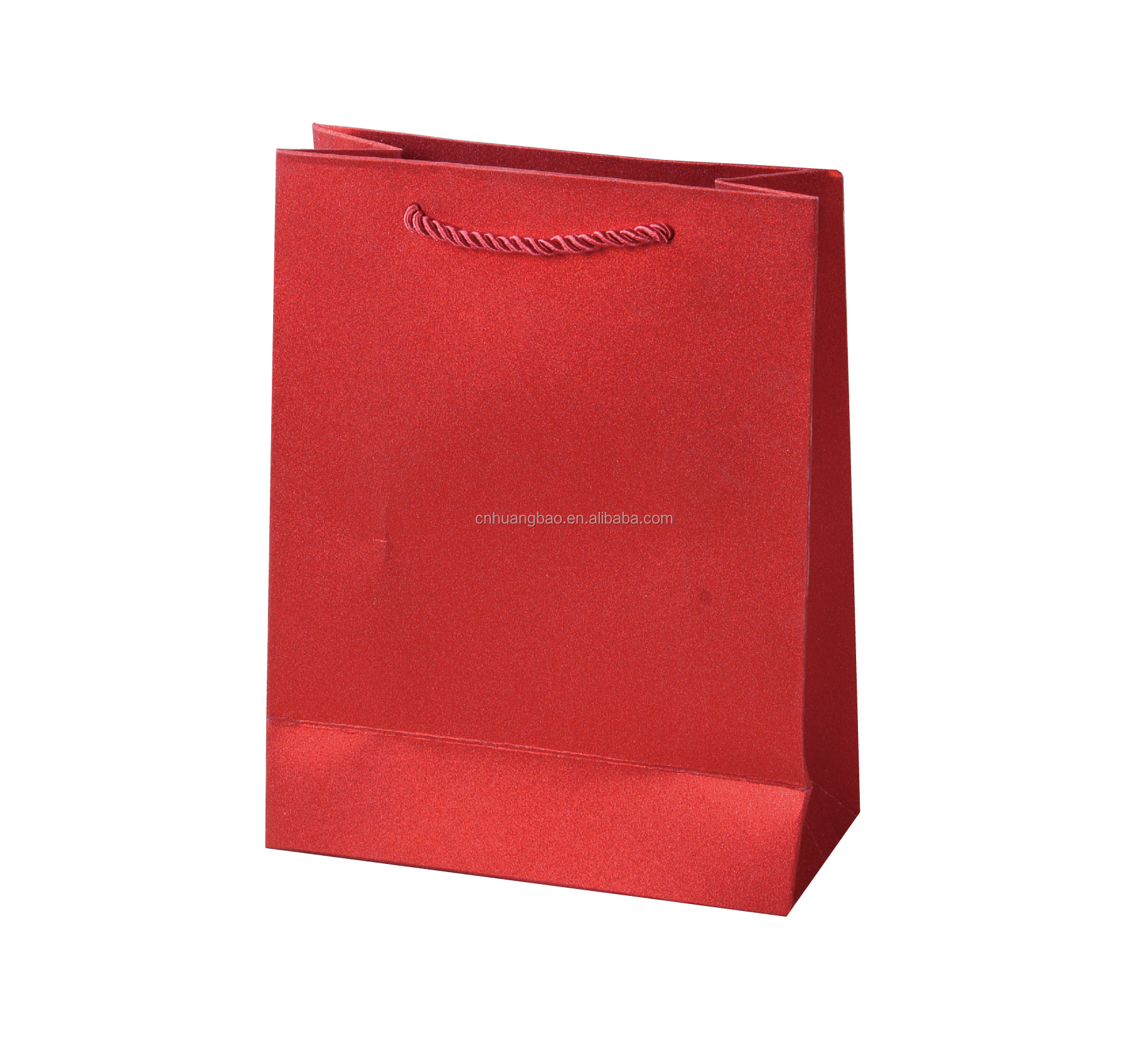 Wholesale glitter gift bags small moq pure color paper bag