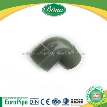 90 degree elbow fitting connector upvc pipe 100mm, 200mm, 500mm for water line
