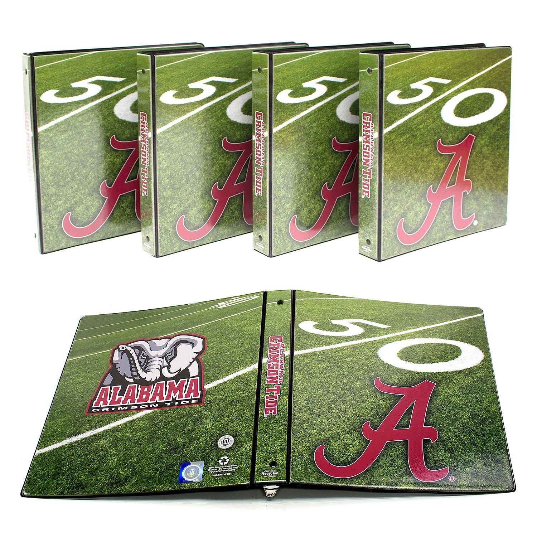 "NCAA Alabama Crimson Tide 1"" College Round 3-Ring Binders, 4 pack"