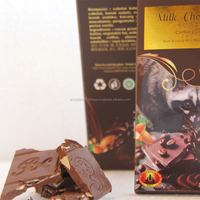 100g Luwak Coffee Milk Chocolate Bar for Wholesale