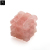 Platonic solid geometric reiki healing crystals wand metaphysical rose quartz square gemstone