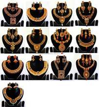 Traditional Jewellery Kundan Pearl Necklace Set with Earrings For Women Gold plated Necklace set